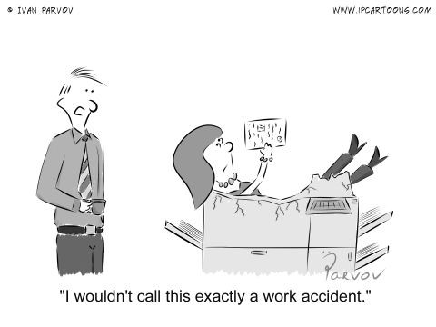 I wouldn't call this exactly a work accident.