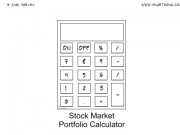 Stock Market Cartoon #0015 - Stock Market Portfolio Calculator