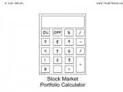 Stock Market Cartoon #0015 - Stock Market Portfolio Calculator
