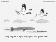 Political Cartoon #0031 - They migrate to Syria every year. Just ignore them...
