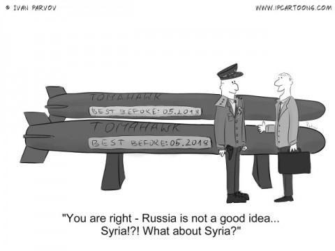 Political Cartoon #0032 - You are right - Russia is not a good idea...Syria!?! What about Syria?