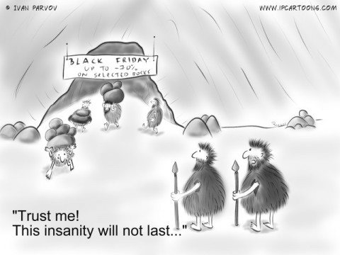 "Technology Cartoon #0035 -""Trust me! This insanity will not last..."""